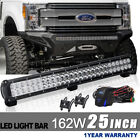 25inch 162W Led Light Bar Spot Flood Work FIT Driving ATV UTE SUV Offroad 4WD 24