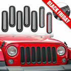 Upgrade Clip on Grille Front Mesh Grille Inserts for Jeep JK Wrangler 2007 2015