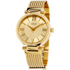 Guess Soho Gold Dial Stainless Steel Ladies Watch W0638L2