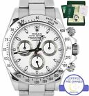 2007 Rolex Daytona Cosmograph 116520 Z White Stainless Chronograph 40mm Watch