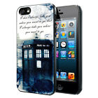 Doctor Who Smoke Quotes Phone Case Cover Fits iPhone Samsung LG HTC Google etc