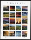 US NATURE LANDSCAPES 2018 SCOTT 5298 O BEAUTIFUL 20 MXF FOREVER STAMP SHEET