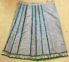 Fine Rare Antique Chinese Hand Silk Embroidery Large Skirt Robe