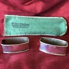 Pair of Vintage Rectangular Sterling Silver Napkin Rings Holders ~ Webster Co.