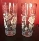 WHITE Kitchen Ice Tea Drinking Glasses Set Of 2
