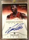 Dominique Wilkins 2012-13 Immaculate Inscriptions Auto 13 25!