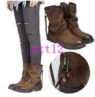 Real Leather Womens Ankle Boot Vintage Metal Low Heel Platform Gladiator Shoes