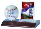 Ultra Pro MLB Dark Wood Base Ball and Card Holder Other Supplies Storage Display