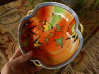 VINTAGE Candy Dish ? Japan Vibrant Colors Farmhouse Cottage Country Flowers