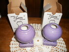 Fiesta Lilac F - 113 Round Candle Holders Set of 2  Excellent -  New in Box
