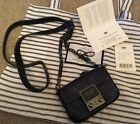 ANYA HINDMARCH Tiny Tim Cross Bodymini Bag In Midnight Leather Used Once