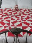 In Time for Christmas Antique Turkey Red True Lovers Knot Quilt TOP 56X76