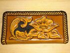 HAND MADE TOOLED 100 REAL COWHIDE LEATHER CHECKBOOK COVER CREDIT CARD WESTERN