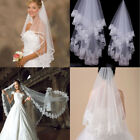 Cathedral Length Lace Edge Bride Wedding Bridal Veil Comb Long Trail Accessories