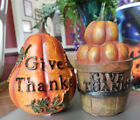 Give Thanks Pumpkin Figurines