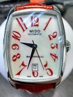 Mido Baroncelli Tonneau Automatic Women's Red Leather Watch M003.307.16.112.00