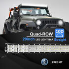 44 36 29 23 12 7 4 Inch Straight Led Work Light Bar Driving Lamp Quad Row