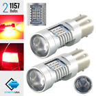 2x 1157 2057 High Power 50W Bright Red Brake Stop Tail 21 LED Lamp Light Bulbs