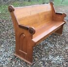 Nice Antique Ash Walnut Church Pew 60