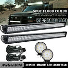 2X 52inch Curved Led Work Light Bars Truck Jeep 4X4WD SUV Windshield Driving 54