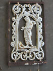 Antique Architectural Iron Salvage, Ornate Woman Figure, Wall Plaque,