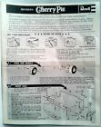Vintage Revell Parts - 1931 Ford Sedan Delivery Instruction Sheet - Dated 1973