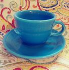 Peacock Blue Fiestaware Fiesta Tea Cup and Saucer Set Color Set Tea/Coffee