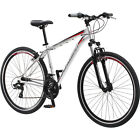 Sports Bike for Men Multi-use White Outdoor Adjustable Speed Commuter Travel NEW