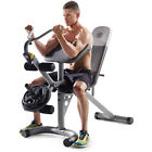 Total Body Work Out Utility Bench Weight Lifting Equipment Home Gym Leg Curls