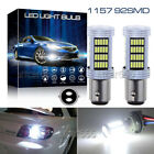 92SMD 1157 BAY15D Bright Xenon Whtie Tail Stop Brake Light LED Bulbs High Power