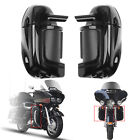 Lower Vented Leg Fairing Glove Box For Harley Road King Tour Electra Glide Black