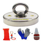 Fishing Magnet Kit Upto 1500 Lbs Pull Force Strong Neodymium Rope Carabiner