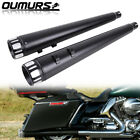 4 Megaphone Slip On Mufflers Dual Exhaust Pipes For Harley Touring 1995 2016 US