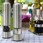 2x Kitchen Stainless Steel Smart Electric Salt Pepper Spice Mill Grinder Muller