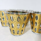 Mid Century CULVER 'Pisa' 22K Gold Green Lowball Old Fashioned Rocks Glasses (7)