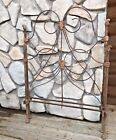 Antique Victorian Cast Wrought Iron Twin Size Bed Frame Headboard Footboard