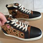 Christian Louboutin Fashion Sneakers High top Leather Suede Velour Size 85 US