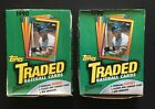 1990 Topps Traded & Rookies Baseball Wax Box 2 Boxes Sealed 72 Packs rc mint