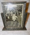 Vintage Picture Wood Framed Stand swivel 1940's