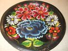 Vintage Painted Wooden Towl Bowl with Wall Hanger