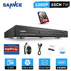 SANNCE 16CH 8CH 4CH Full 1080P DVR Video Recorder for CCTV Security System