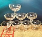 8 VINTAGE CLEAR GLASS FOOTED CUP SHERBET ICE CREAM DESSERT FRUIT 3