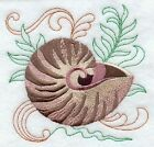 Series - 9 X 12 Embroidered Quilt Block - Pre Order - Treasures Of The Sea