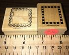 119 Rubber Stamps Stampin Up Frames Checkered Eyelet Doily