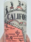VINTAGE HAZEL ATLAS FROSTED PINK GLASS CALIFORNIA STATE MAP SOUVENIR