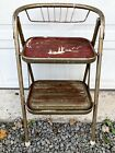 COSCO Step Stool Chair Vtg Industrial Metal Folding Kitchen Rustic Aged