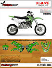 2002-2016 KAWASAKI KX 65 FLAME Motocross Graphics Dirt Bike Graphics KIT
