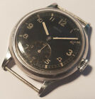 Vintage German miltary stainless steel screwback Zenith from 40's