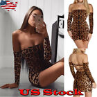 Women's Bandage Bodycon Long Sleeve Back Lace Up Cocktail Club Short Mini Dress