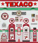 TEXACO GAS PUMPS SERVICE STATION ITEMS SCENE WALL MURAL SIGN BANNER ART 7' X 8'